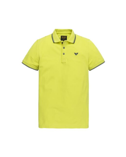 PME LEGEND Polo in het Yellow voor heren