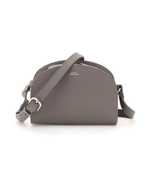 A.P.C. Crossbody Mini Bag in het Gray