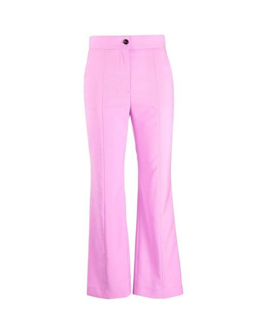 Straight high waisted trousers di MSGM in Pink
