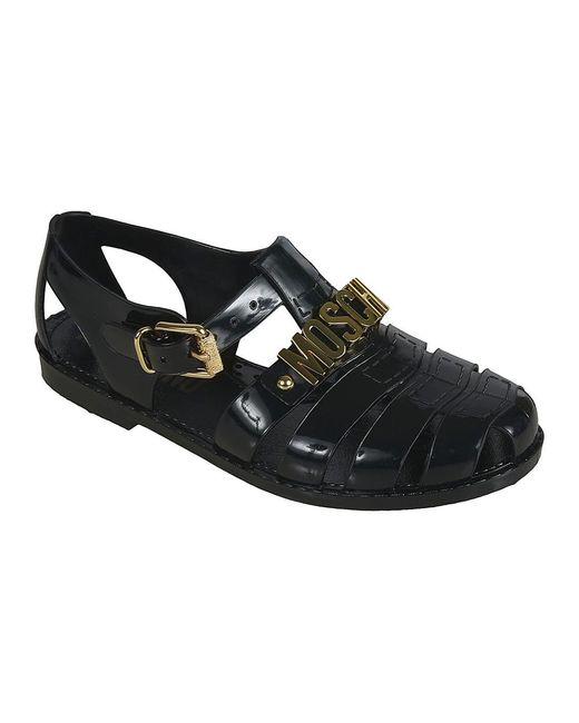Sandalias Negro Moschino de color Black