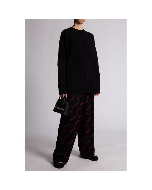 Oversize sweater Negro Balenciaga de color Black