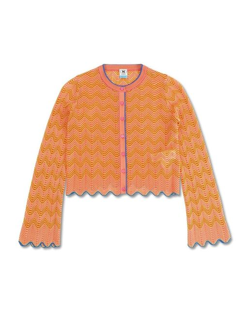 Zig Zag Cardigan di Missoni in Orange