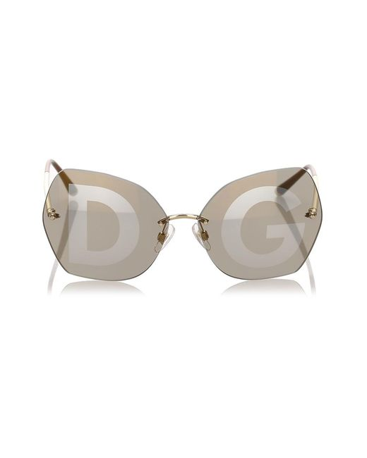 Dolce & Gabbana Square Tinted Sunglasses in het Brown