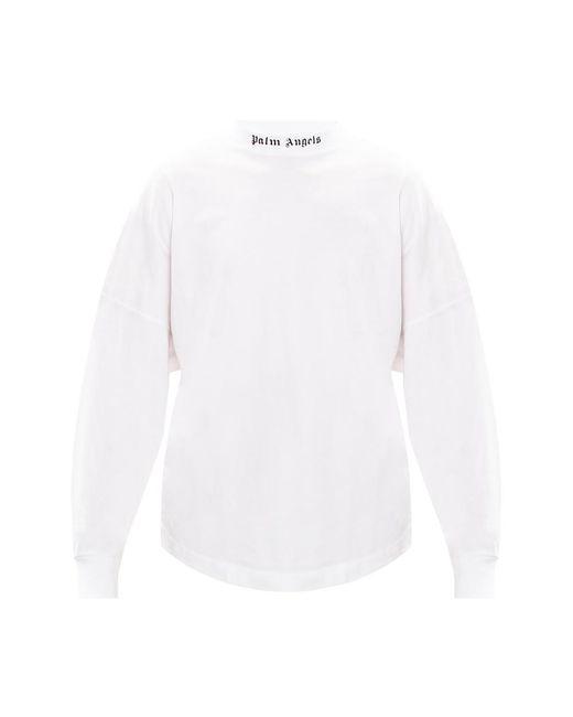 T-shirt à manches longues Palm Angels pour homme en coloris White