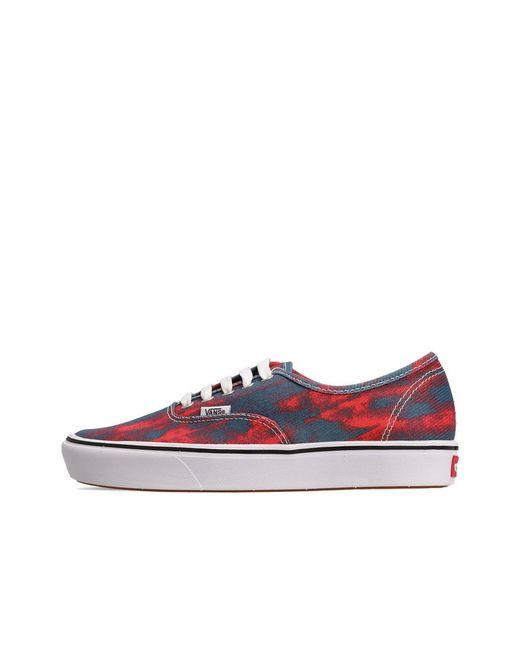 Shoes Comficush Authentic Vans pour homme en coloris Rouge - Lyst