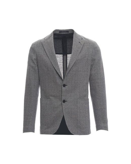 Giacca Spinato Tagliatore pour homme en coloris Gray