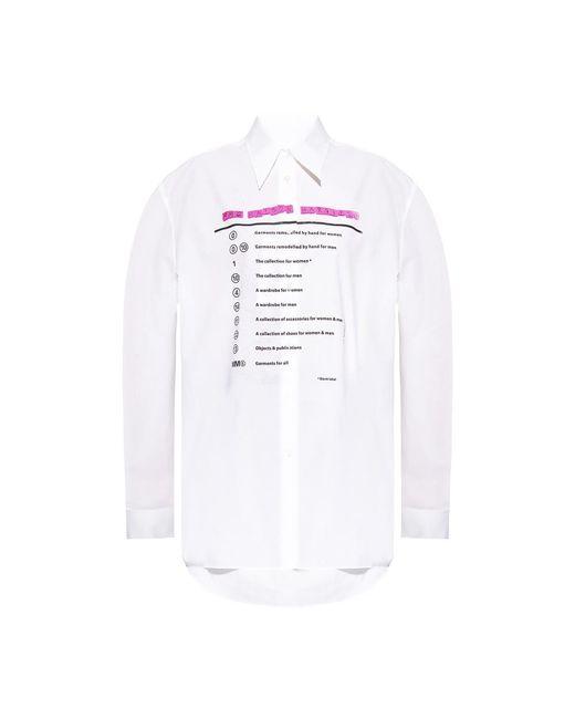 MM6 by Maison Martin Margiela Shirt With Logo in het White