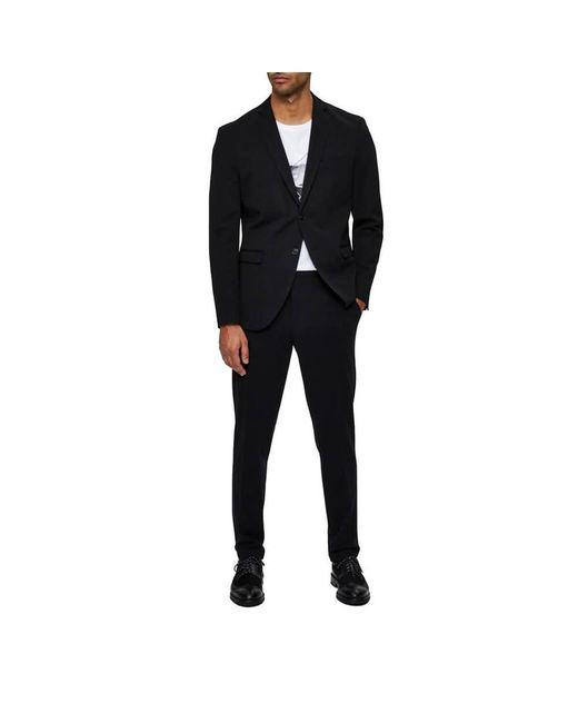 Single-Breasted Blazer Negro SELECTED de color Black