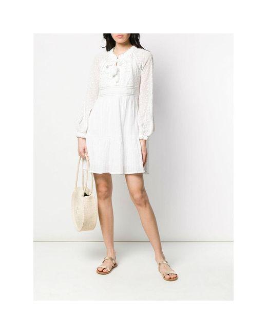 Nicoletta Short Dress Blanco Anjuna de color White