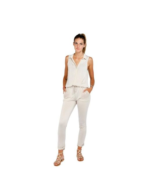 American Vintage Jumpsuit Mila69b in het White