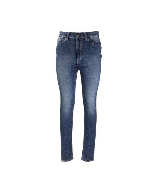 RED Valentino Hoge Taille Skinny Broek in het Blue