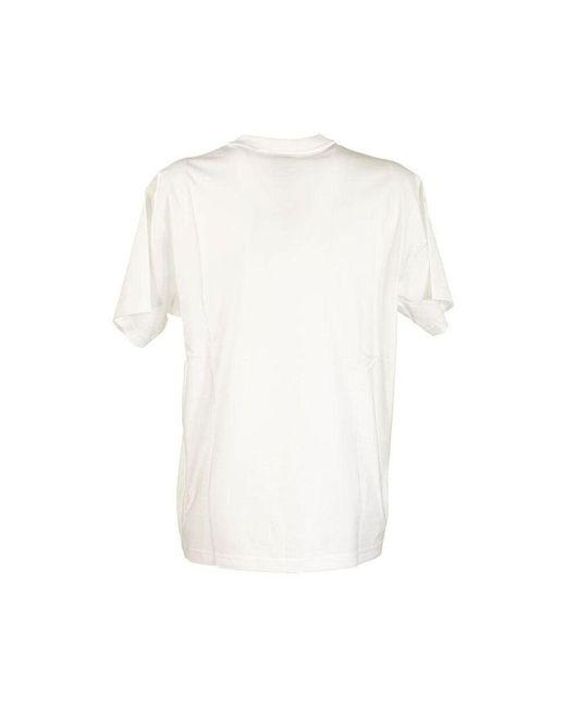 Oversized T-shirt Burberry en coloris White