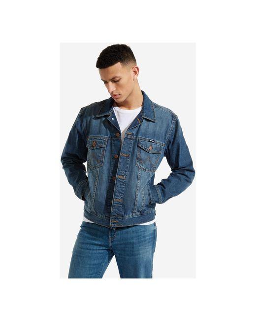 Wrangler Jacket in het Blue voor heren