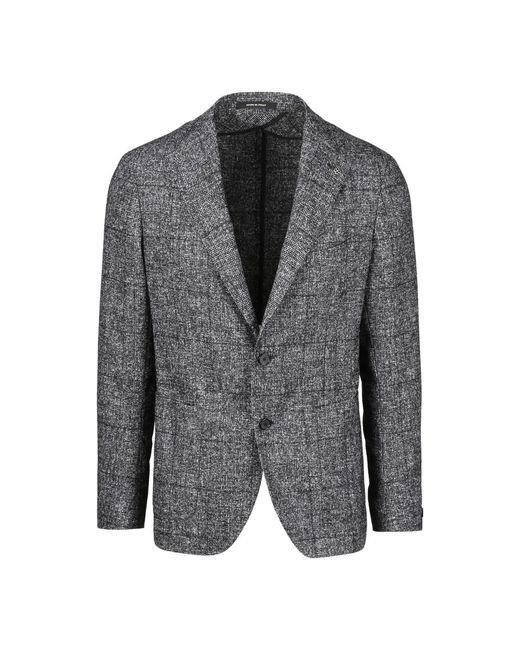 Tagliatore Unlined Check Blazer in het Gray voor heren