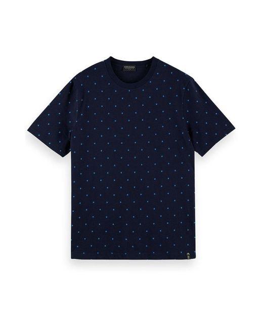 Scotch & Soda T-shirt in het Blue voor heren