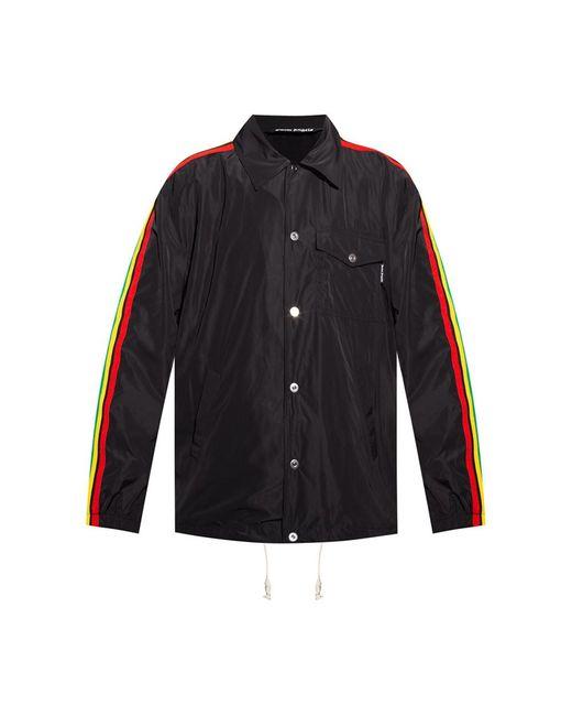 Palm Angels Side stripe jacket in Black für Herren