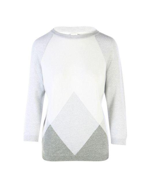 Hermès Esprit Casaque Long Sleeve Sweater in het White