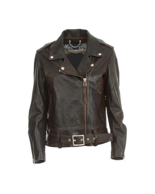 Cuir Victoria Jacket Golden Goose Deluxe Brand en coloris Black
