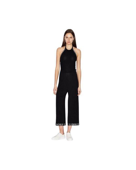Armani Exchange Tricot Jumpsuit in het Black