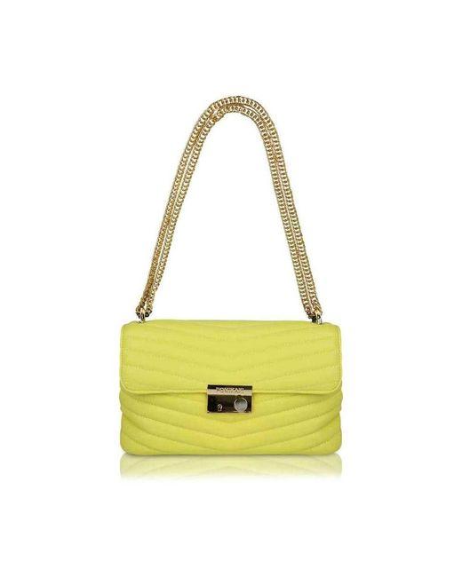 Pomikaki Quilted Giulietta Bag in het Yellow