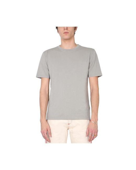 Maison Margiela Crew Neck T-shirt in het Gray voor heren