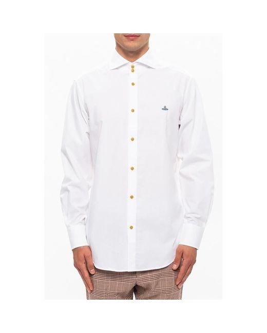 Cotton shirt Blanco Victoria Beckham de hombre de color White
