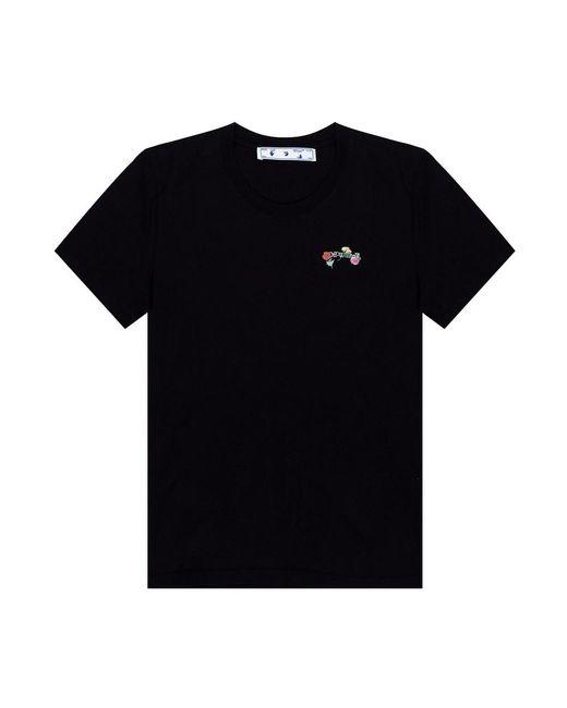 Printed T-shirt di Off-White c/o Virgil Abloh in Black