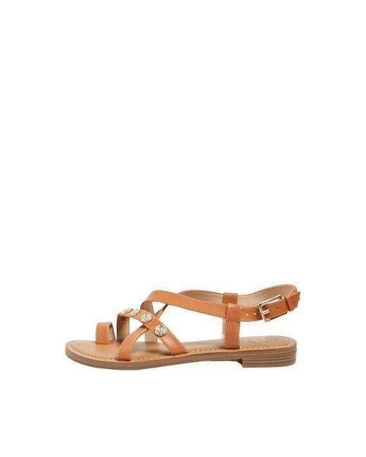 Guess Giorgie Flat Sandalen in het Brown