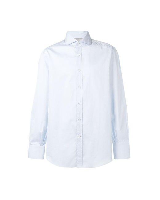 Brunello Cucinelli Shirts in het Blue voor heren