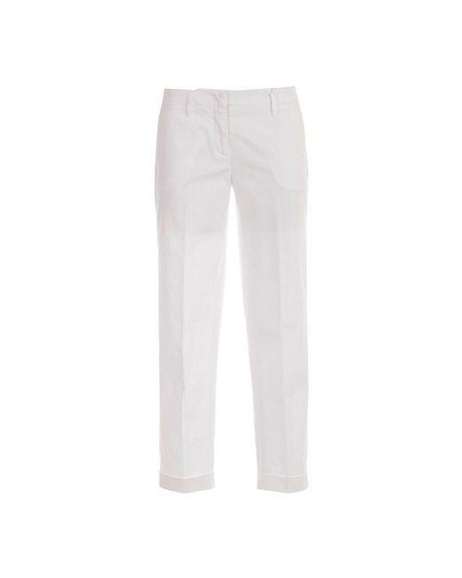 Aspesi Broek Midden Van De Taille W / Lapel in het White