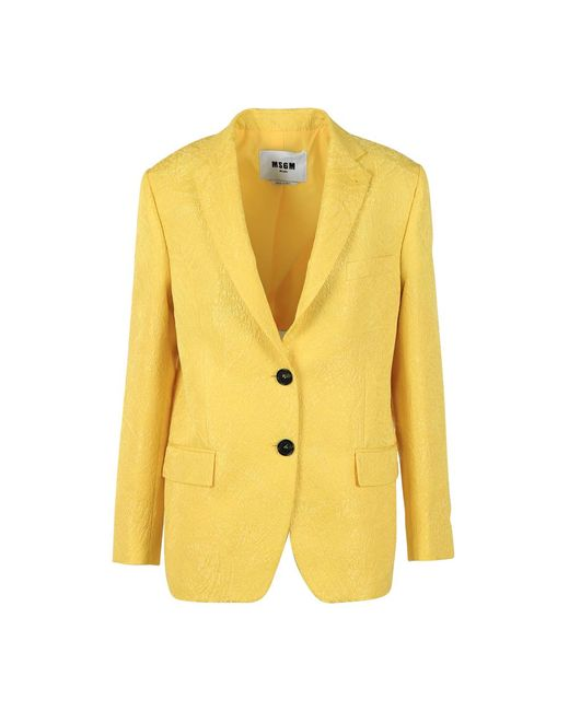 MSGM Blazer in het Yellow