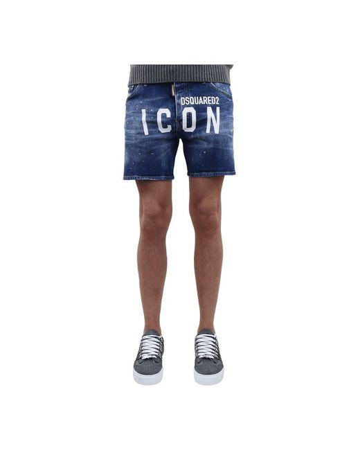 DSquared² Shorts Icon in het Blue voor heren