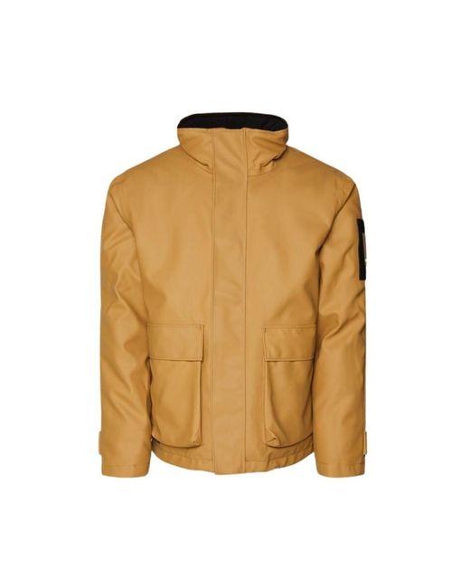 Rains Glacial Jacket in het Yellow