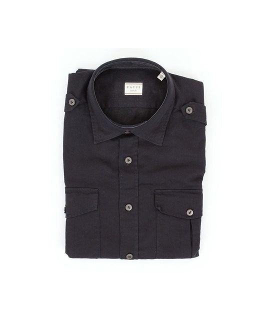 Xacus 909mm41130 Short Sleeve Shirt in het Blue voor heren