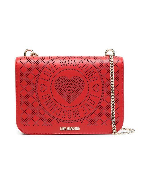 Love Moschino Shoulder Bag in het Red