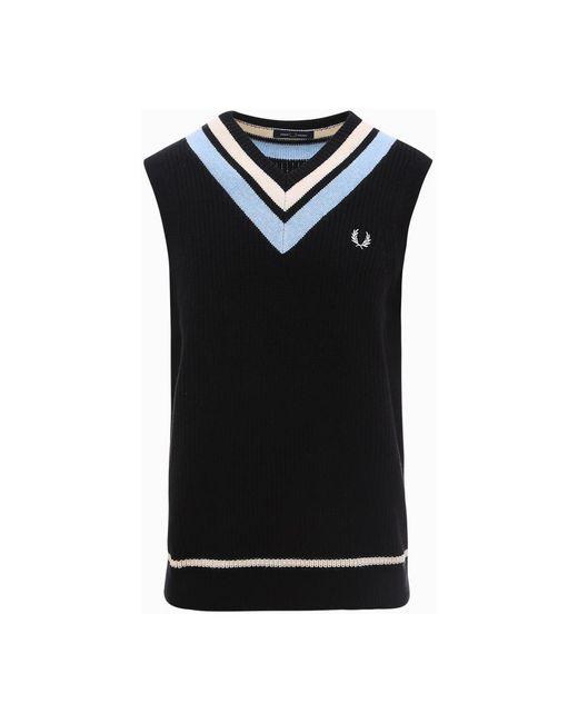 Fred Perry Knitwear in het Black voor heren