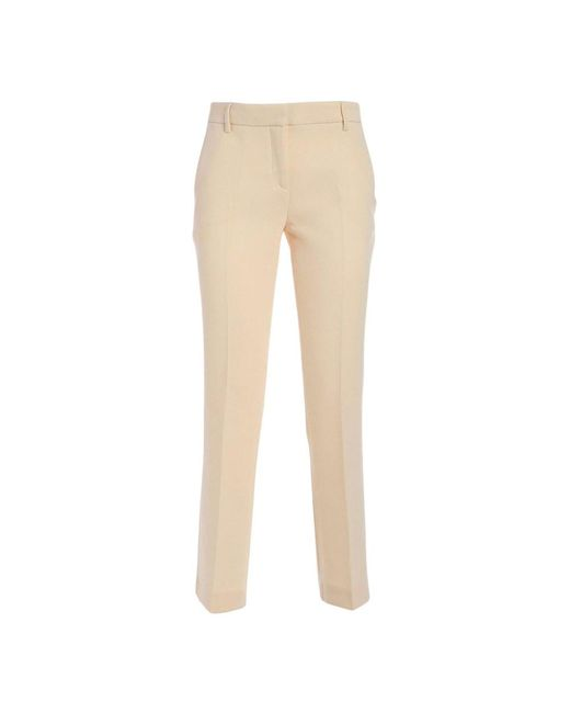 L'Autre Chose Gabardine Trousers in het Natural