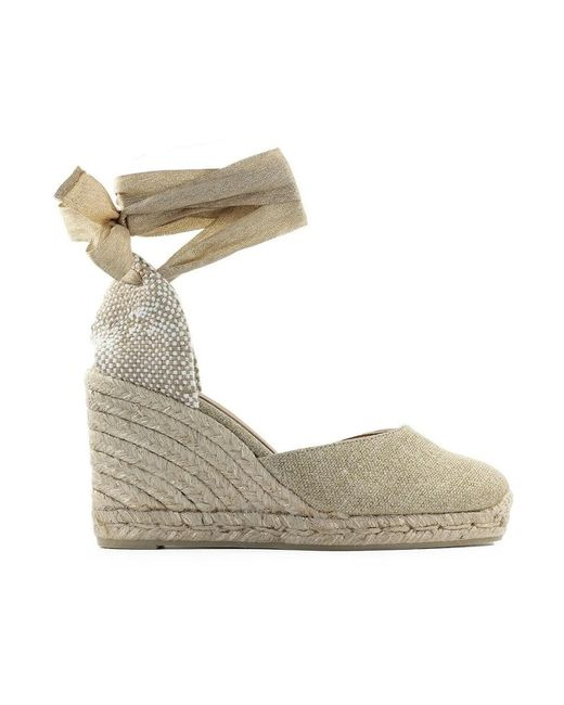 Castaner Wedge Espadrilles in het Natural