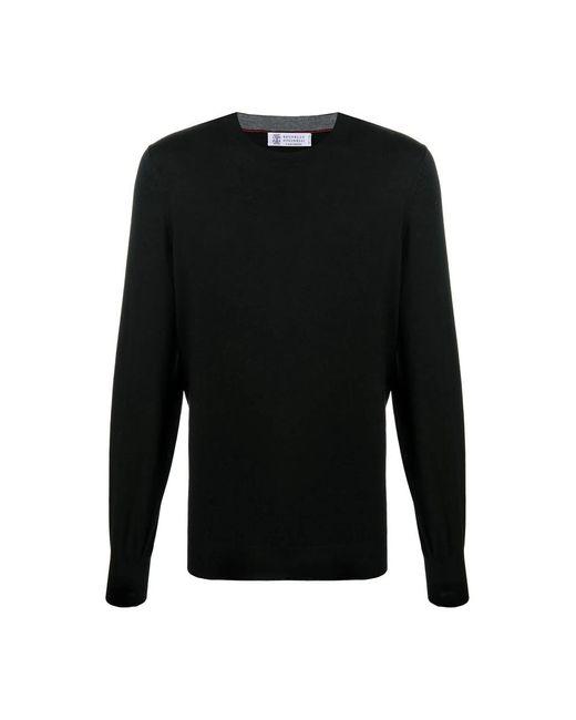 Sweater di Brunello Cucinelli in Black da Uomo