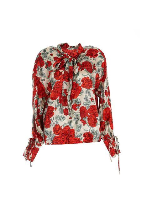 Shirt Ganni en coloris Red