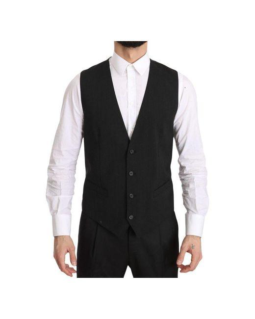 Dolce & Gabbana Gilet Personeel Regular Fit Formele Vest in het Gray voor heren
