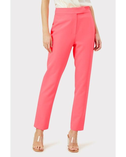 MILLY Pink Spring Cady Kristen Elastic Pant