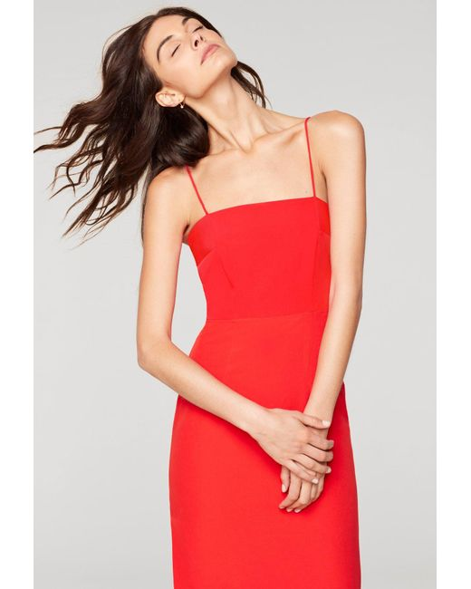 MILLY - Red Italian Cady Pencil Dress - Lyst