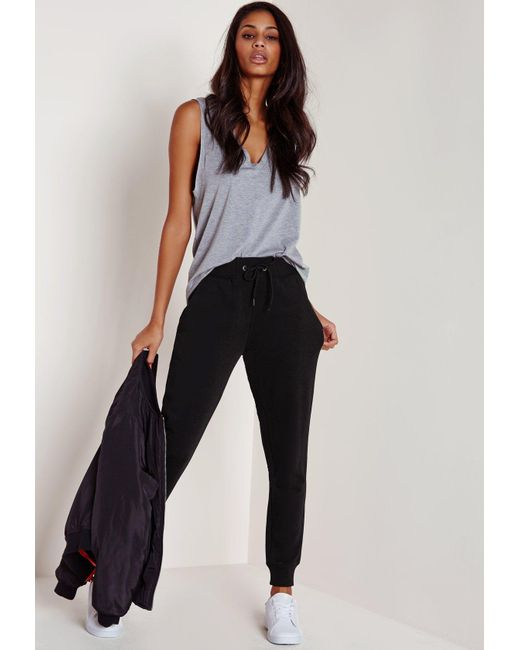 Missguided - Petite Black Joggers - Lyst