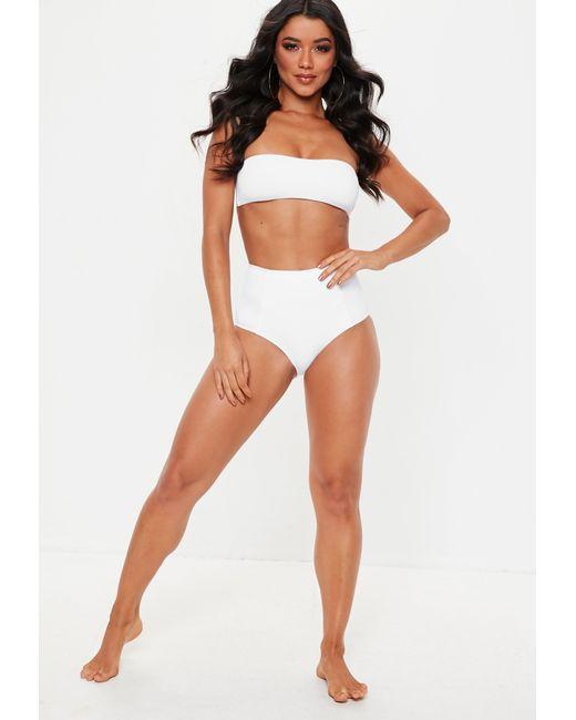 50fd8219f7267 ... Missguided - Black White Mix And Match High Waisted Bikini Bottoms -  Lyst ...