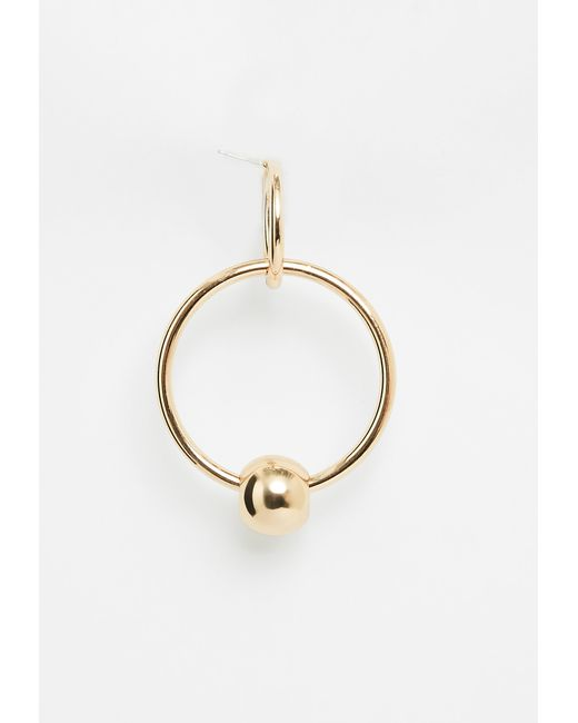 Missguided Gold Hoop And Ball Earrings in Metallic