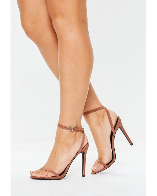 9cd9f0f1a3d Missguided - Multicolor Tan Pointed Barely There Heels - Lyst