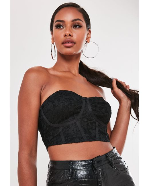 Missguided Black Lace Bralet