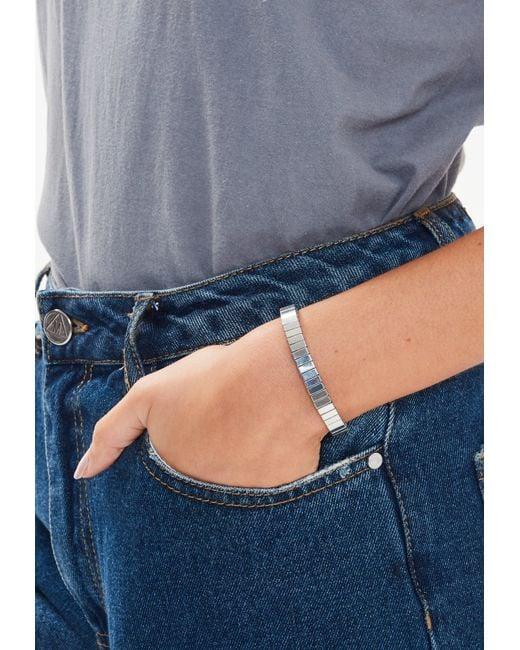 Missguided - Metallic Silver Link Bracelet - Lyst