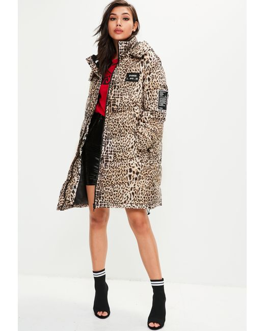 Missguided - Multicolor Animal Print Padded Jacket - Lyst